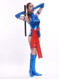Blue Shiny Female Psylocke Ninja Costume