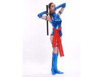 Blue Shiny Female Psylocke Ninja Costume