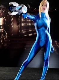 Samus Aran Zero Suit 3D Print Girl Cosplay Costume