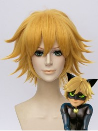 Miraculous Ladybug Cat Noir Gold Cosplay Wig