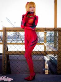 Asuka Evangelion Plugsuit Dyesub Printing Cosplay Costume