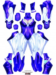 DJ Sona League of Legends Printed Costume