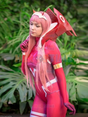 Zero Two Cosplay Costume DARLING in the FRANXX Printing DyeSub Suit