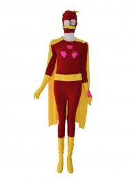 Custom Duck Design Red Superhero Costume