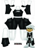 Danny Phantom Female Muscle Dyesub Cosplay Costume