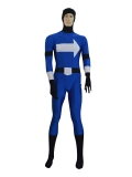 Deep Blue White Arrows Superhero Costume