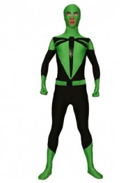 Dragonfly Green And Black Spandex Superhero Costume