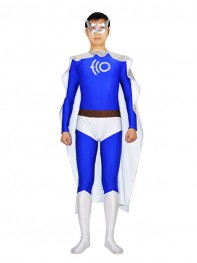 ECO Man Spandex & Metallic Superhero Costume