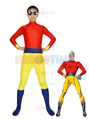 Fawcett Comics Superhero Bulletman Spandex Superhero Costume