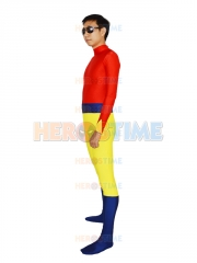Fawcett Comics Superhero Bulletman Spandex Superhero Costume