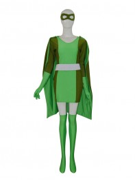 Green Cool Custom Female Superhero Costume