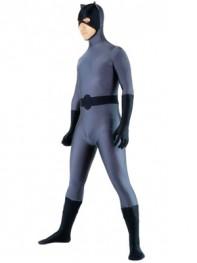 Grey & Black Cat Style Spandex Superhero Costume