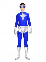 Spandex And Metallic Kyberstarr Superhero Costume
