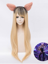 Ahri Wig League of Legends The Nine-Tailed Fox Cosplay Wig