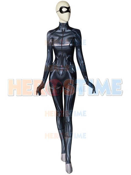 Cat Noir Cosplay Miraculous Ladybug Printing Spandex Costume With Eye Patch