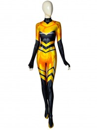 Queen Bee Miraculous Ladybug DyeSub Printing Superhero Costume