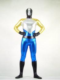 Mix-colored Shiny Metallic Fullbody Superhero Costume