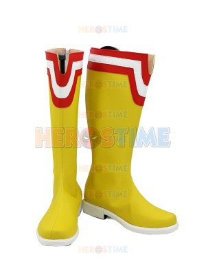 Boku no Hero Academia All Might Yellow Mens Cosplay Boots