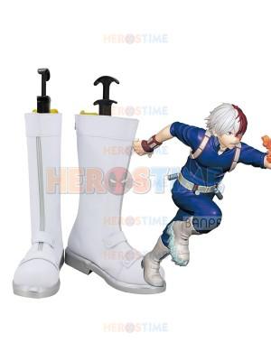 Todoroki Shoto My Hero Academia White Cosplay Boots