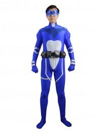 Royal Blue & White Custom Superhero Costume