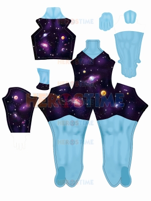 Rick and Morty Supernova Costume with Female Muscle Shading
