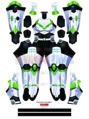 Shiro Female Voltron Cosplay Costume Paladin Armor Spandex Suit