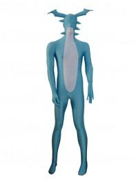 Sky Blue Monster Lycra Spandex Custom Superhero Costume