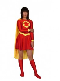 Red And Yellow Star Superhero Costume