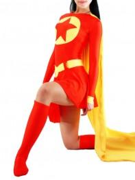Red & Yellow Spandex Superhero Costume