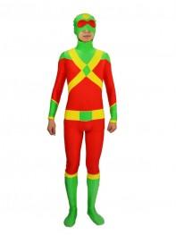 Stuntman Red & Green Spandex Superhero Costume