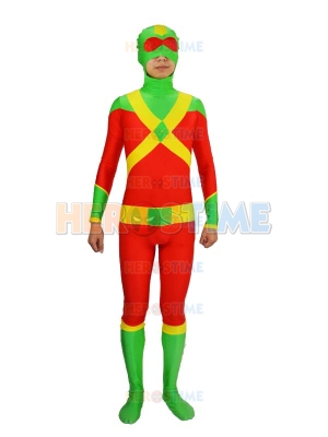 Stuntman Red & Green Spandex Superhero Costume