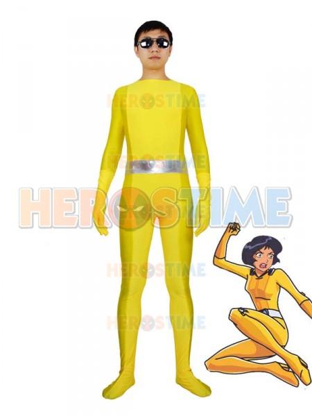 Totally Spies! Alex Yellow Spandex Superhero Costume