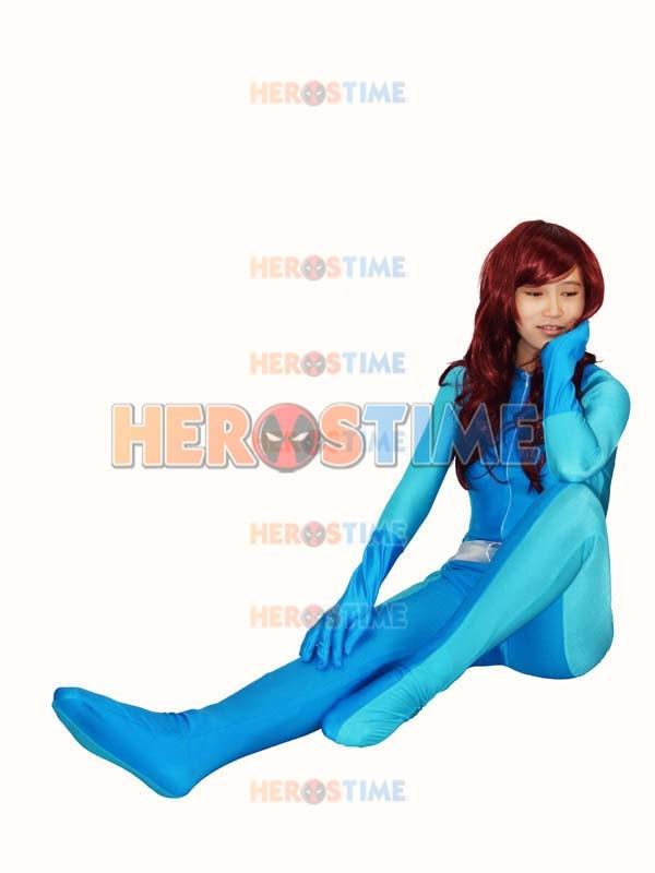 Totally Spies Britney Blue Spandex Superhero Costume