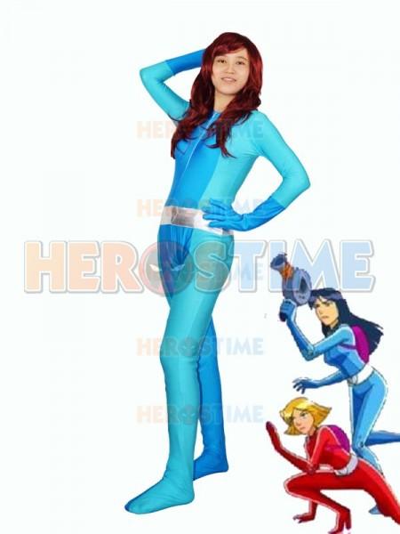 Totally Spies! Britney Blue Spandex Superhero Costume