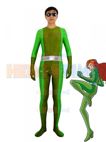 Totally Spies! Sam Green Spandex Superhero Costume