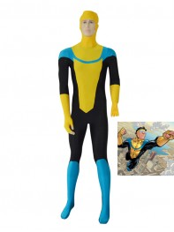 Yellow Custom Invincible Mark Grayson Superhero Costume