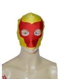Yellow & Red Bull Pattern Custom Superhero Mask