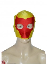 Yellow & Red Bull Pattern Custom Superhero Mask