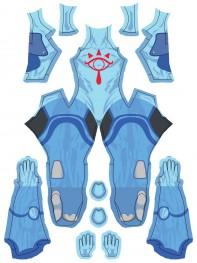 Sheikah Shadow Folk The Legend of Zelda Cosplay Costume No Mask