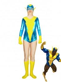 Super Friends Black Vulcan Black & Yellow Superhero Costume