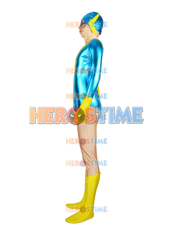 super friends black vulcan black yellow superhero costume