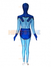 Female Version Blue Beetle Spandex Superhero Costume