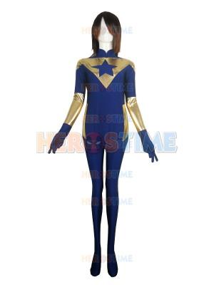 Booster Gold Film Version Spandex Superhero Costume