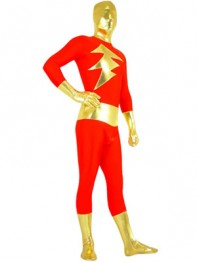 Captain-Marvel Shazam Red and Gold Superhero Costume