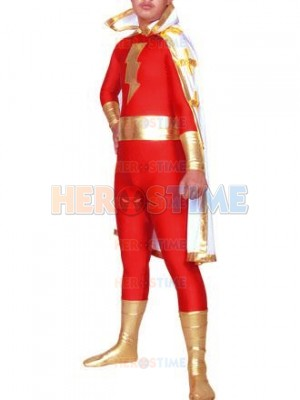 Captain Marvel Metallic & Spandex Superhero Costume