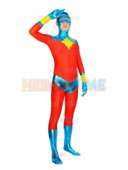 Captain Marvel Mar-Vell Superhero Costume