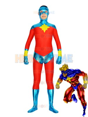 Captain-Marvel Mar-Vell Superhero Costume