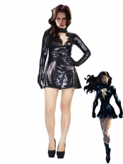 The Marvel Family Mary Marvel Black Metallic Superhero Costume
