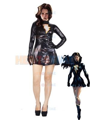 The Marvel Family Mary Marvel Black Metallic Superhero Costume