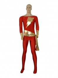 Captain-Marvel Comics Superhero Costume